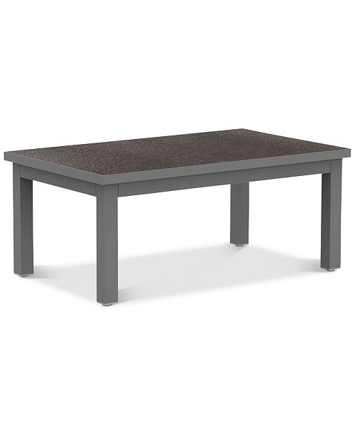 Furniture Carleese Outdoor Coffee Table with Cal Sil Top