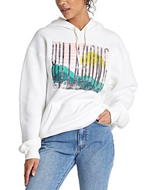 Juniors' Break Of Day Graphic-Print Fleece Hoodie