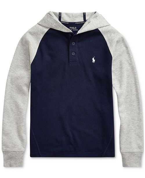 Polo Ralph Lauren Big Boys Cotton-Blend-Mesh Hoodie