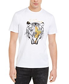 Men's Bold Tiger Skull Graphic T-Shirt