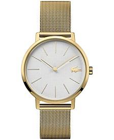 Women's Moon Gold-Tone Stainless Steel Mesh Bracelet Watch 35mm