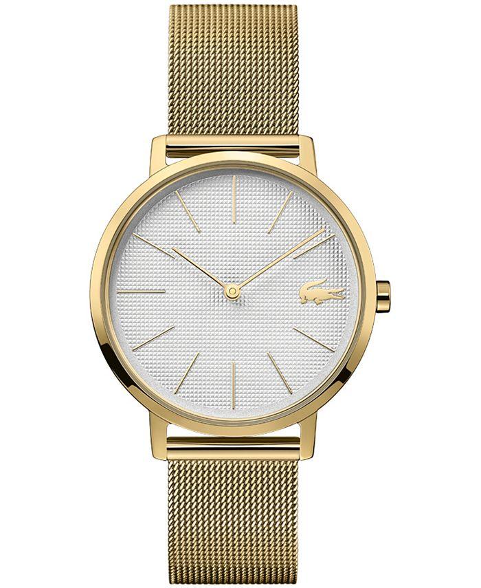 Lacoste - Women's Moon Gold-Tone Stainless Steel Mesh Bracelet Watch 35mm
