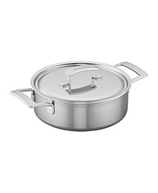 Industry 4-Qt. Stainless Steel Deep Saute Pan
