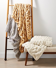 CLOSEOUT! Faux-Fur Throw Collection, Created for Macy's