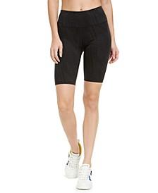 Geo-Print High-Waist Bike Shorts