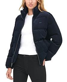Women's Corduroy Puffer Jacket