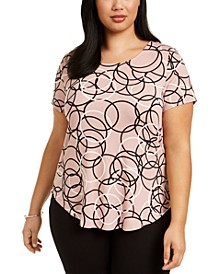 Plus Size Printed T-Shirt, Created for Macy's