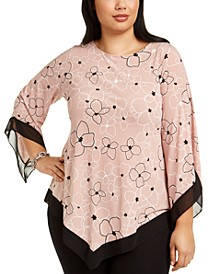 Plus Size V-Hem Blouse, Created for Macy's