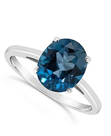 Blue Topaz (3 ct. t.w.) Ring in Sterling Silver. Also Available in London Citrine (2-5/8 ct. t.w.) and Amethyst (2-1/3 ct. t.w.)