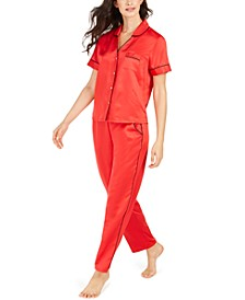 INC Piping-Trim Pajama Set, Created For Macy's