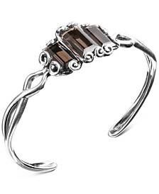 Smoky Quartz Cuff Bracelet (13-1/5 ct. t.w.) in Sterling Silver