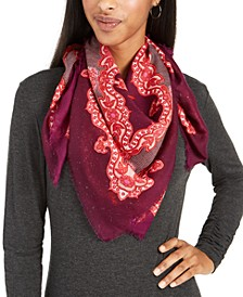 Icy Paisley Square Scarf