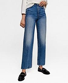 Leandra Medine Faded Relaxed Jeans