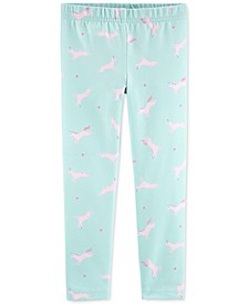 Toddler Girls Unicorn-Print Leggings