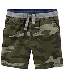 Toddler Boys Cotton Camo-Print Pull-On Dock Shorts