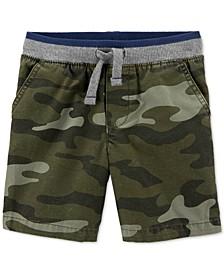 Toddler Boys Cotton Camo-Print Pull-On Dock Shorts