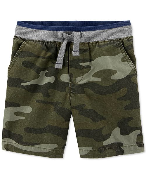 Carter's Toddler Boys Cotton Camo-Print Pull-On Dock Shorts