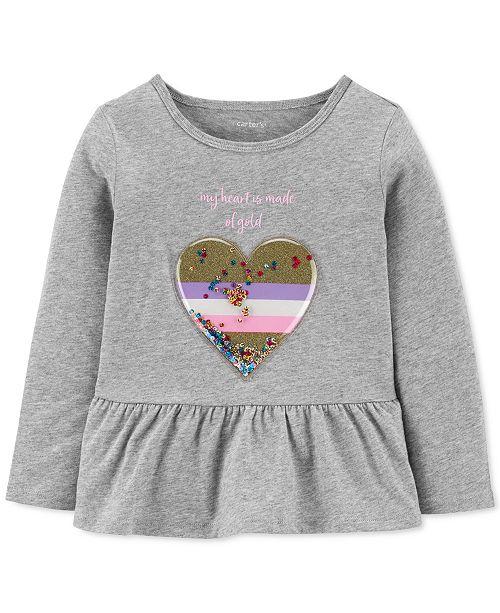 Carter's Toddler Girls Cotton Heart of Gold Peplum Top