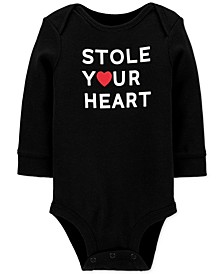 Baby Boys Stole Your Heart Cotton Bodysuit