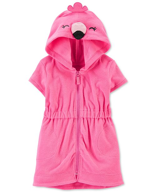 Carter's Baby Girls Hooded Flamingo Cover Up