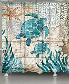 Bay Turtles Shower Curtain