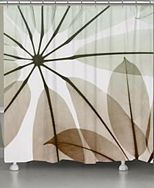 Earthy Brassy Shower Curtain