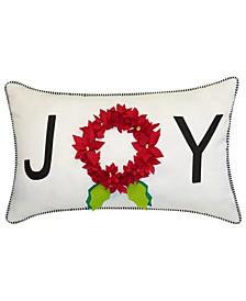 "Joy Dimensional Indoor and Outdoor Decorative Pillow, 24"" x 14"""