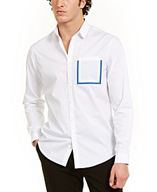 INC Men's Contrast Pocket Shirt, Created for Macy's