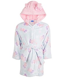 Toddler Girls Velvet Fleece Hooded Robe