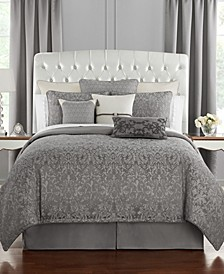 Vernon Reversible Queen 4 Piece Comforter Set