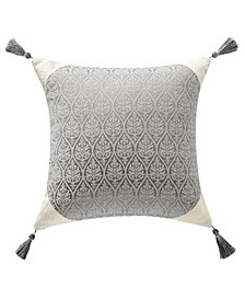 "Vernon 16"" Square Tassel Decorative Pillow"
