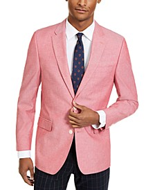 Men's Modern-Fit Red Chambray Sport Coat