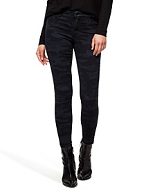 Social Standard Mid-Rise Skinny Ankle Printed Jeans