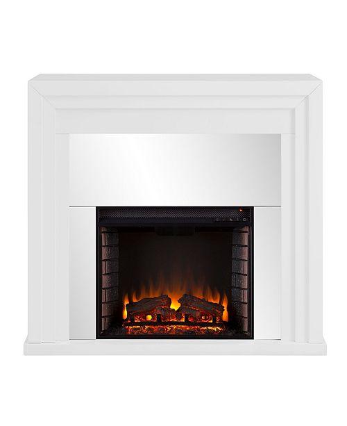 Southern Enterprises Morrigan Mirrored Fireplace