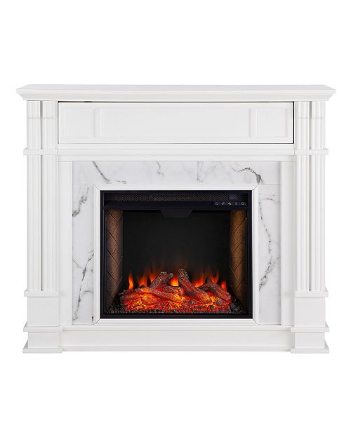 Southern Enterprises Eldridge Electric Alexa-Enabled Media Fireplace