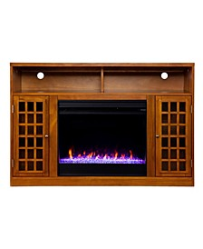 Branford Color Changing Electric Fireplace with Storage