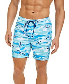 "Men's Seagull 7"" Swim Trunks, Created for Macy's"