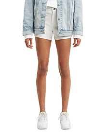 Mid-Length Denim Shorts