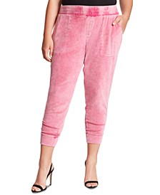 Trendy Plus Size Ryland Snow-Washed Ankle Jeggings