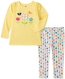 Little Girls 2-Pc. Flower Surprise Tunic & Leggings Set