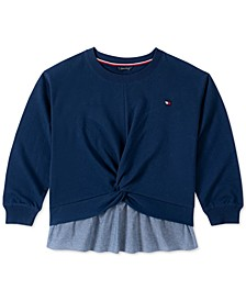 Big Girls Layered-Look Twist Shirt