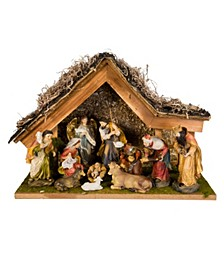 12-Inch Nativity Set with Stable and 10 Figures