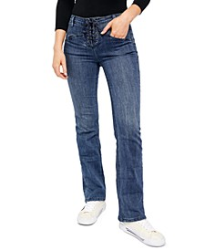 Eva Lace-Up Bootcut Jeans