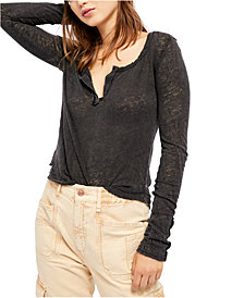 Free People Hazy Day Henley Top