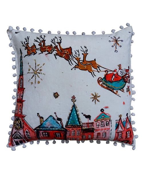 Chicos Home Christmas Pillow Cover