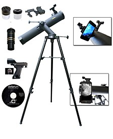 800mm x 80mm Astronomical Tracker Reflector Telescope Kit with Smartphone Adapter