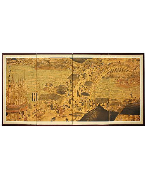 "Red Lantern 36"" Ching Ming Festival Wall Art"