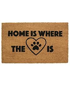 Home is Where Your Heart is Coir Door Mat