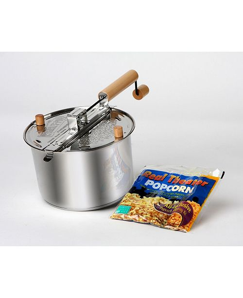 Wabash Family Farms Wabash Valley Farms Stainless Steel Whirley-Pop Popcorn Popper