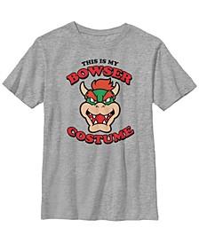 Nintendo Big Boy's Super Mario Bowser Costume Short Sleeve T-Shirt